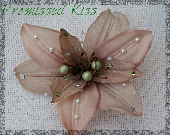 Wedding Hair Flower, Bridal Hair Clip, Pearl & Rhinestone Clip, Bridesmaid Accessory, Special Occasion Flower