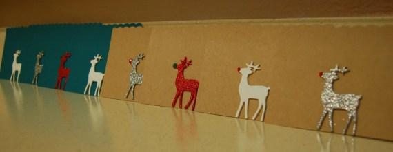 Reindeer Christmas Card Set - Cardboard & Teal - AnantiPaper