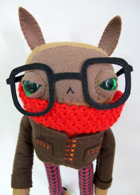 Wintery Nerd Rabbit: Made to Order