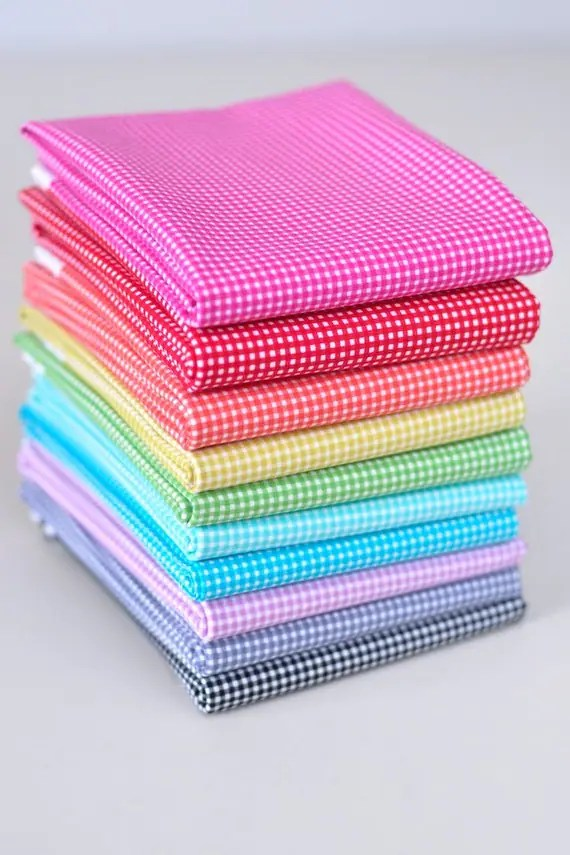 NEW Gingham 10 Fat Quarter Bundle from Michael Miller