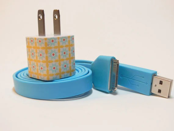 IPhone Charger Decorated with Personality (Charger Adapter works with all iPhone Versions including iPhone 5)