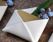Porcelain Envelope Place Card Holders - redravenstudios