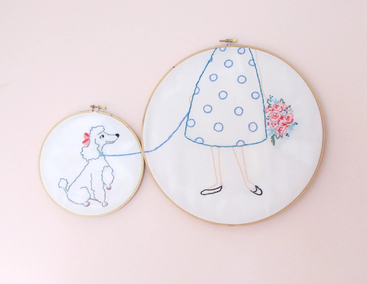 PDF 'Poodles & Polka Dots' Embroidery pattern