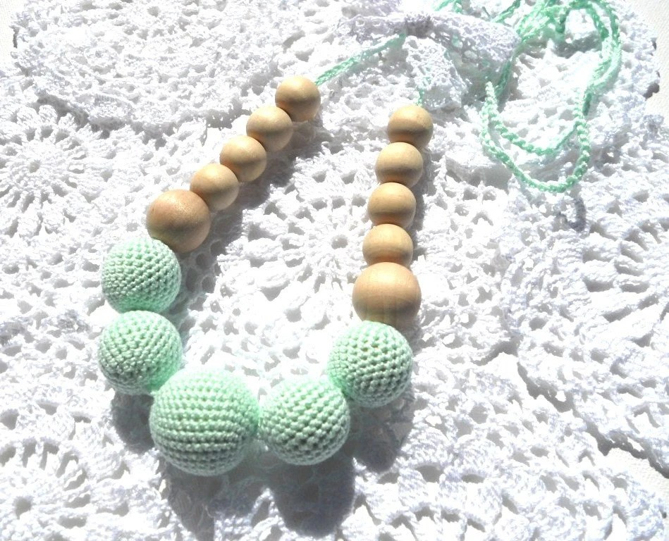 Mommy / Teething Necklace - Nursing Breastfeeding necklace - Mint - Gift for Mother - sweetshtuchky