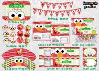 Elmo Birthday Party Printable Decoration