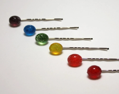 Lampworked Gum Drop Hairpins