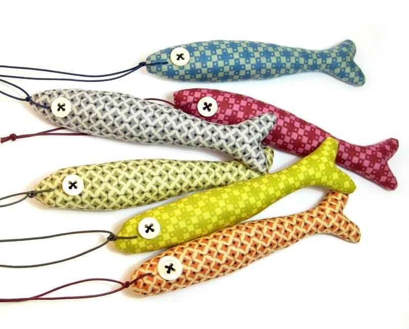 Ornamental Stuffed Fabric FISH - olula
