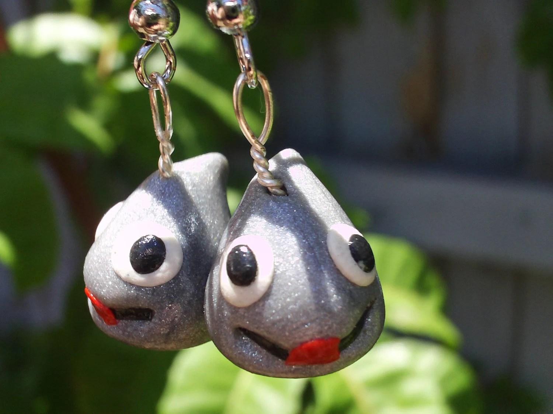 OOAK Dragon Quest Metal Slime Earrings