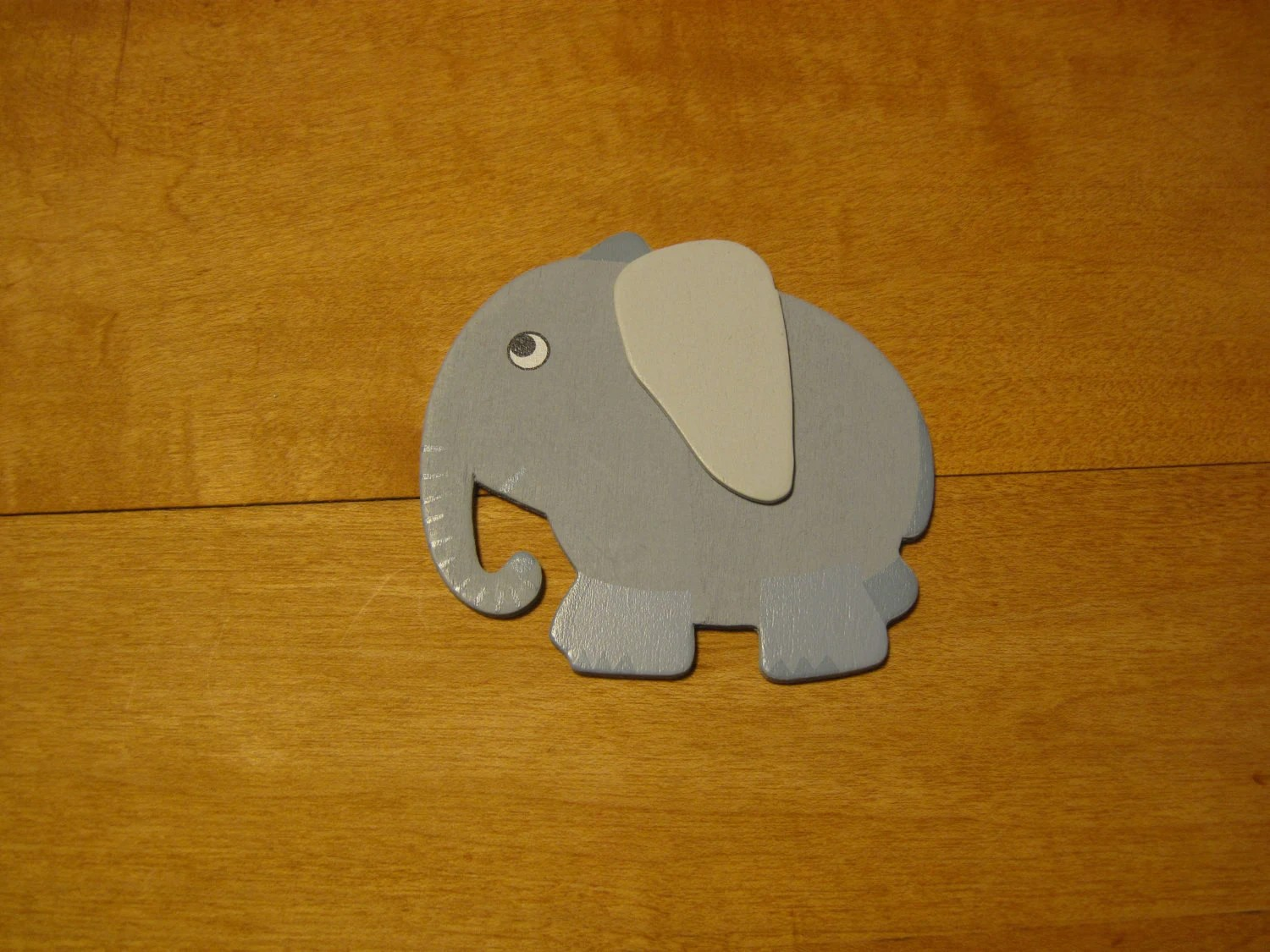 Large Elephant Wood Magnet