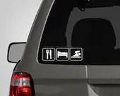 Eat, Sleep, Swim Decal - Swim Decal - Swimmer Sticker - Swimming - Vinyl Car Decal - DecalLab