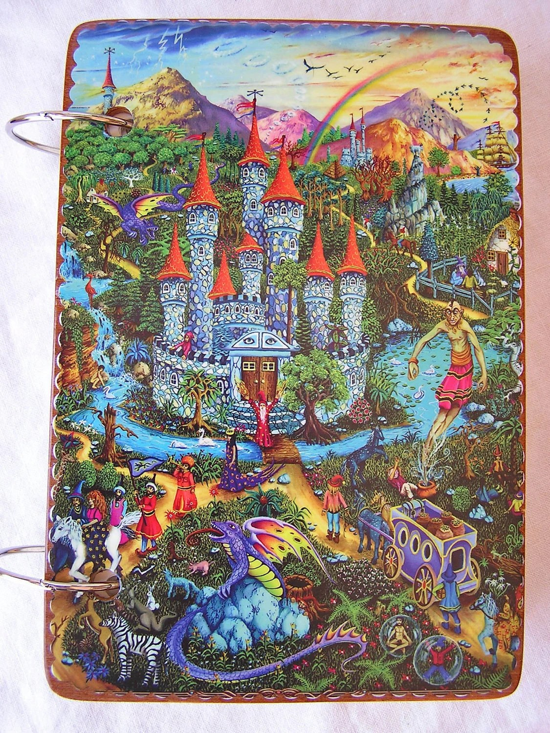 Castles in Fantasy Art wooden book