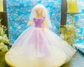 New handmade BARBIE Clothes CHRISTMAS BALLGOWN Doll dress, (nannycheryl original)    907  x  77