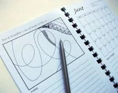 """2012 Planner, Zentangle Inspired, """"Do-a-Doodle Diary"""", Month to View"""
