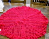 CROCHET BLANKET New handmade CUDDLE Blanket Shawl Baby bright pink colour pretty shawl     713