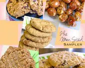 "Just for him - ""THE MAN-sized"" Sampler Dudes Boys Guys Nerds Geeks Fellas Combo Pack Box Vegan - SweetVeganDelight"