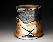 Tumbler (Fall2011), textured & woodfired