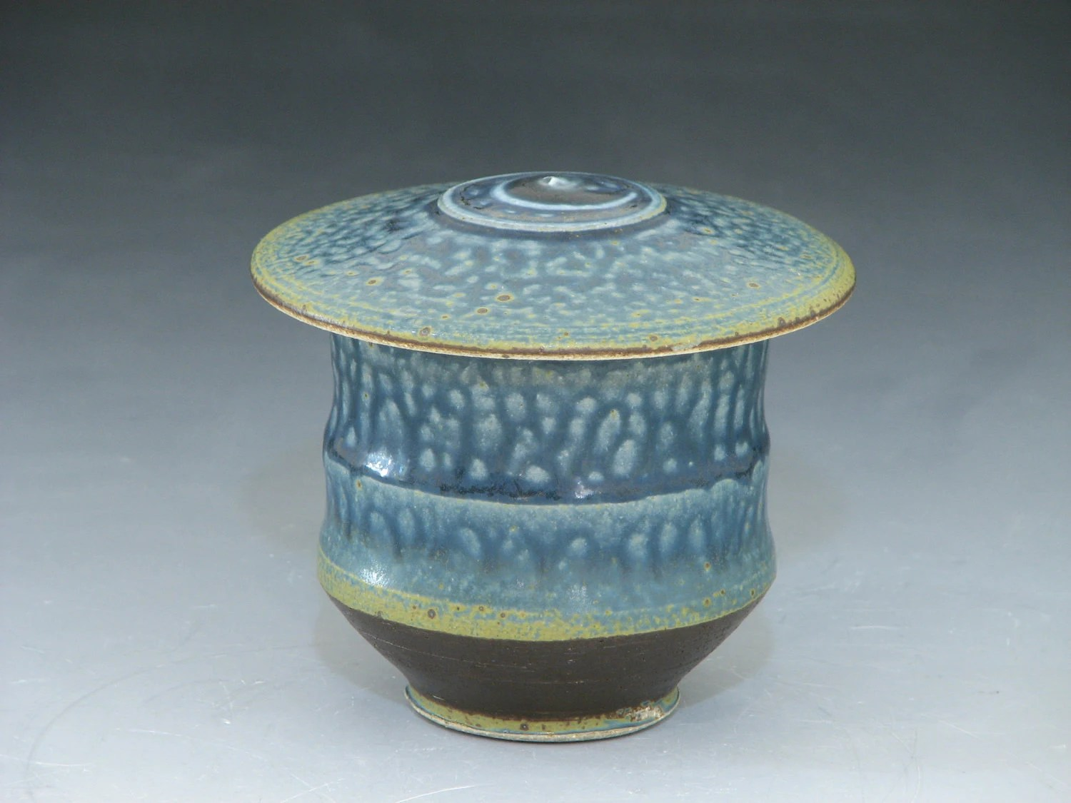 Blue Lidded Tea Bowl (YCP147)
