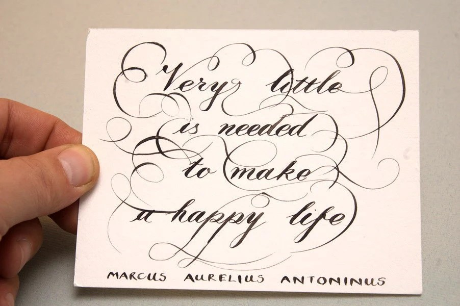 Happiness Calligraphy Quote - A very Special Gift Card with Envelope