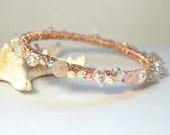 Rose Gold Wrapped Bangle Artisan Bracelet