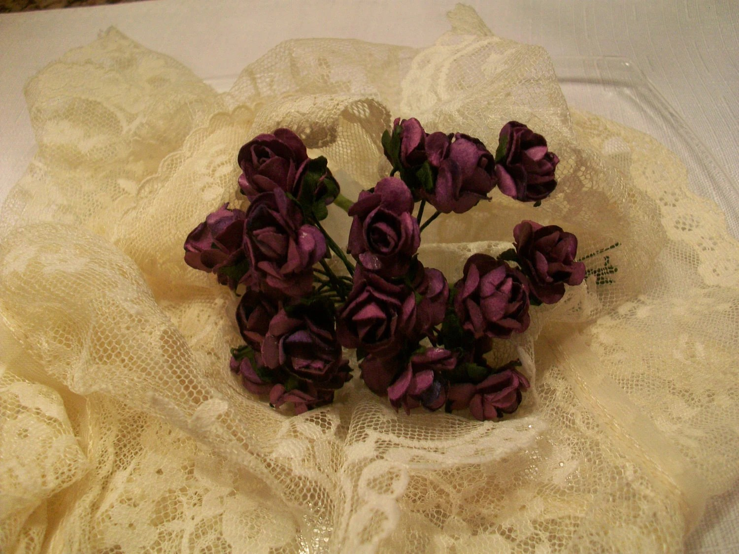 Set of  24  Mini Millinery Roses