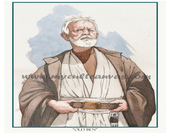 Original Obi Wan Kenobi Art Print  by Phil Gibson Star Wars Watercolor Jedi Knight Lightsaber Movie Poster