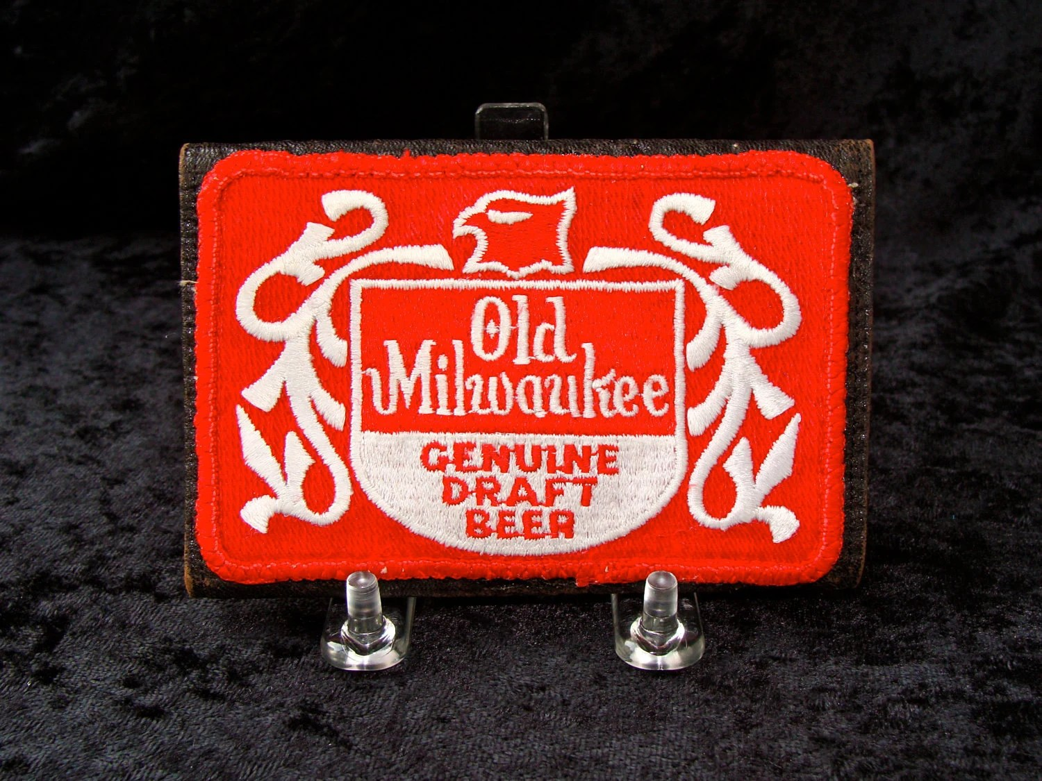 Upcycled Modern Wallet with Vintage Old Milwaukee Beer Patch - undercoverPOPULAR