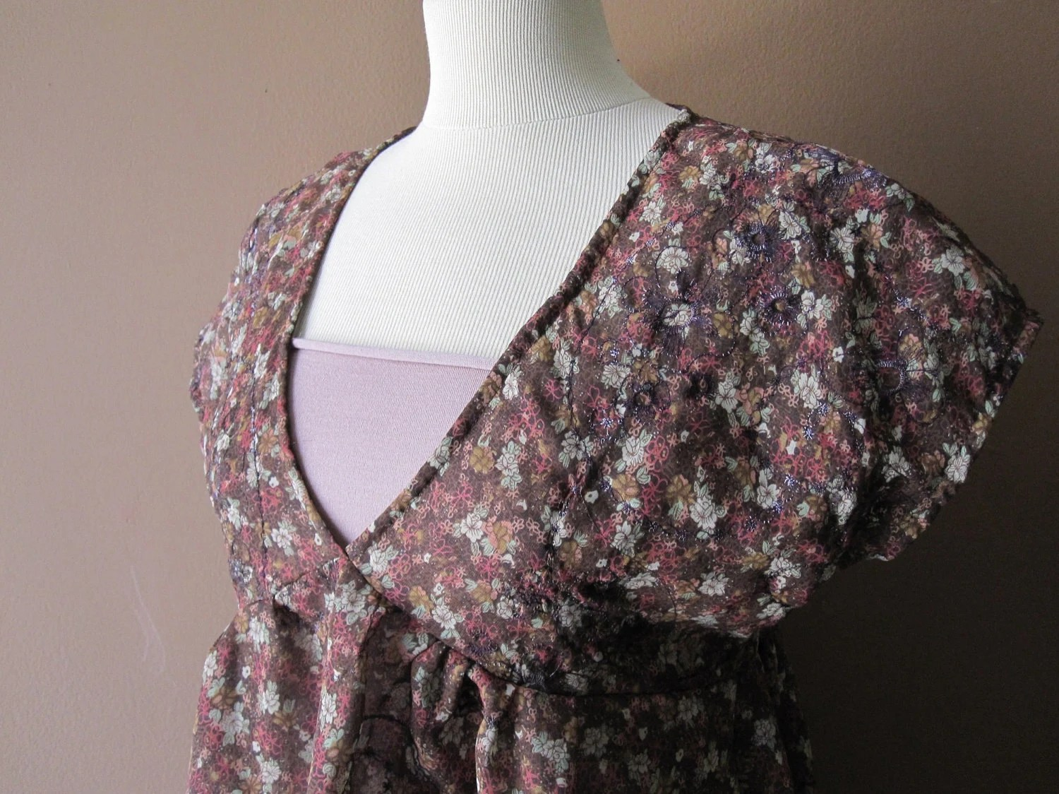 London Flowers - OOAK Floral Dress