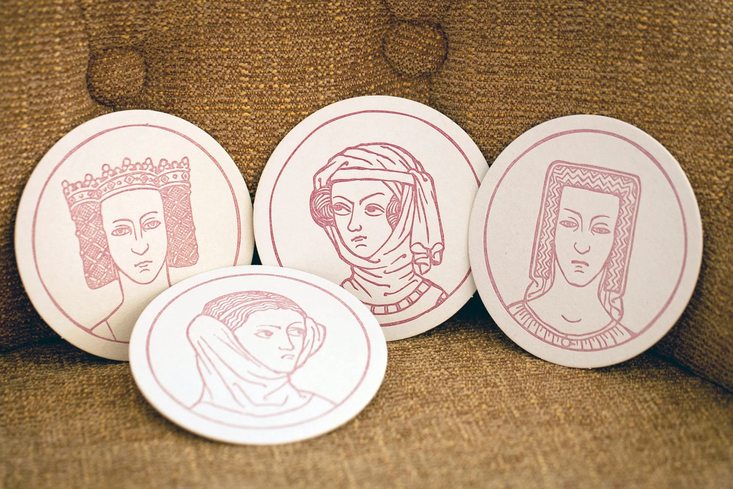 Coasters - Royal Bitches - Letterpress - bhletterpress