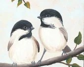 2 Chickadees on a Branch - whatsingramasdrawers