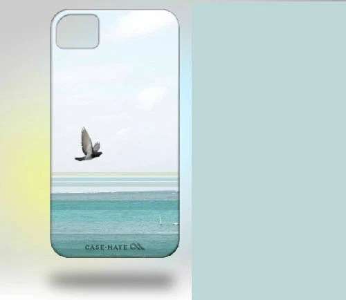 iPhone 4 Case: Puerto Rico Beach Gull blue gray turquoise - Gallery32Photography