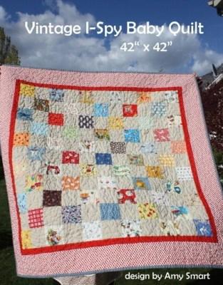 "65 (3.5"") I-spy quilt blocks and pattern"