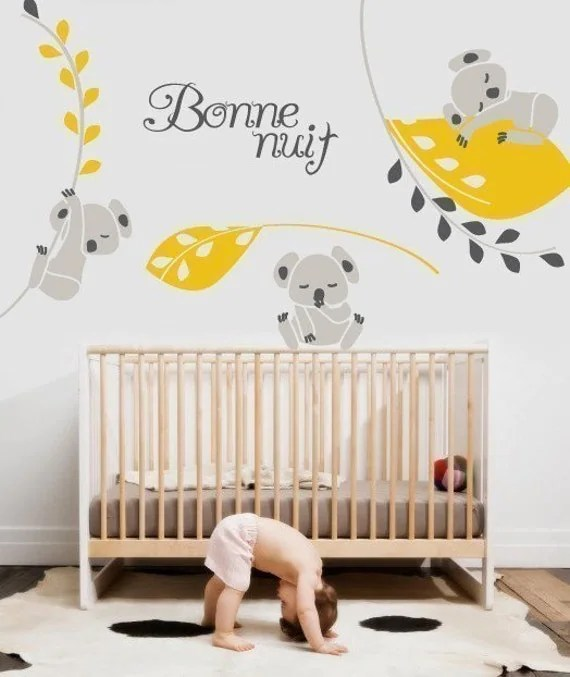 Vinyl Wall Sticker Decal Art - Koala Nighty Night