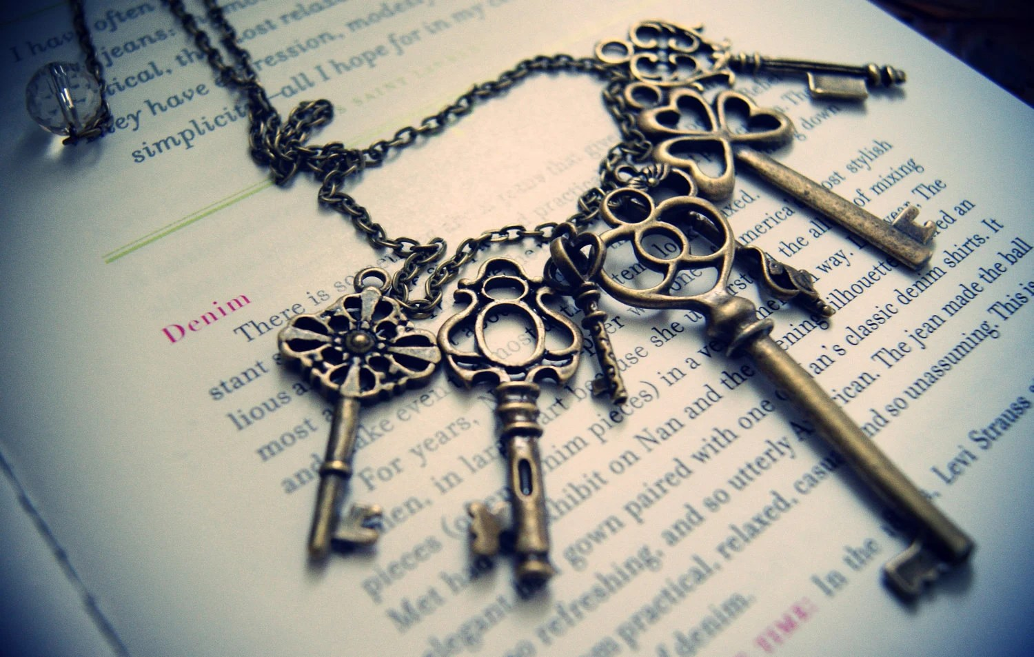 Vintage Key Necklace (customize your own)