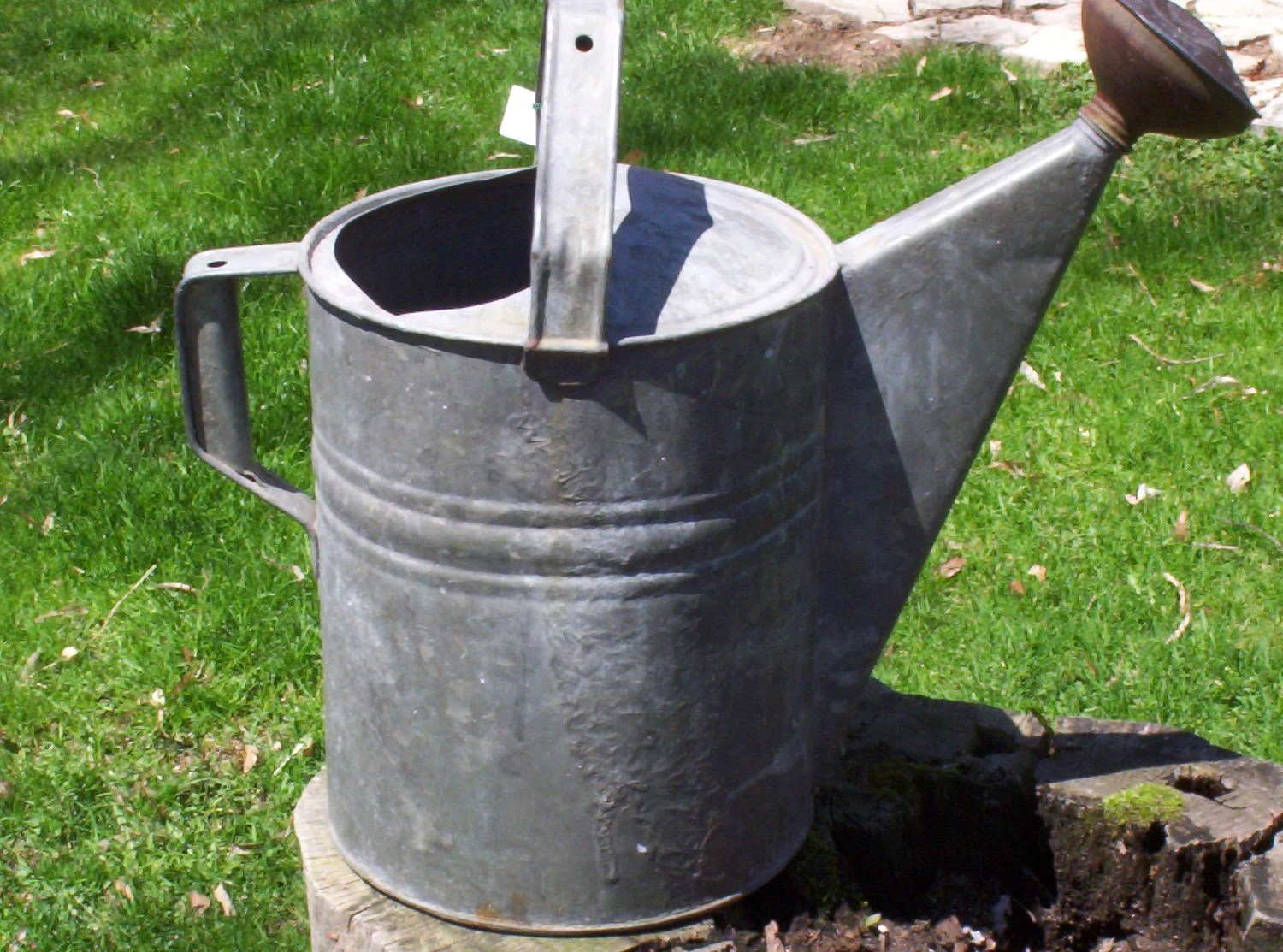 Large Vintage Tin Watering Can - NO 12 - Copper Spigot - Treasury Item