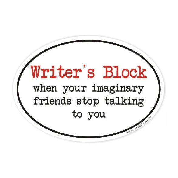 writers block oval sticker