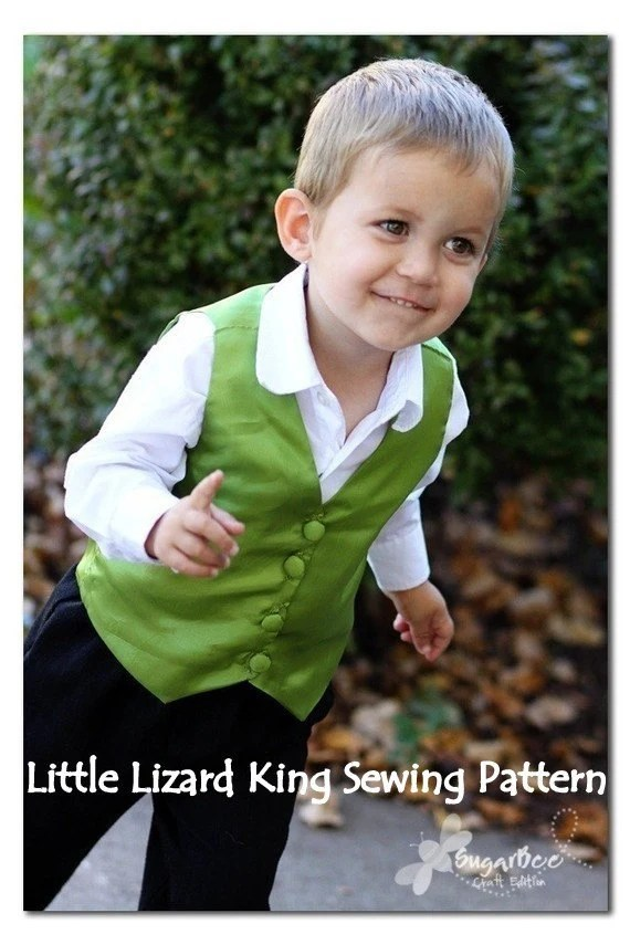 Boys Vest Sewing Pattern, Easy PDF Tutorial, 3m-7  Reversible