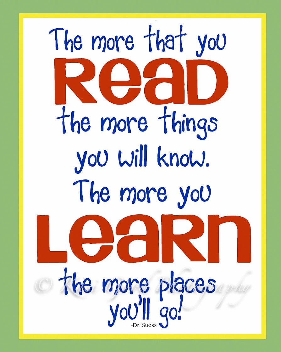 QUOTE - READ - Print - 8x10 - Dr. Suess