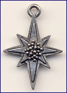 Pewter North Star Charm
