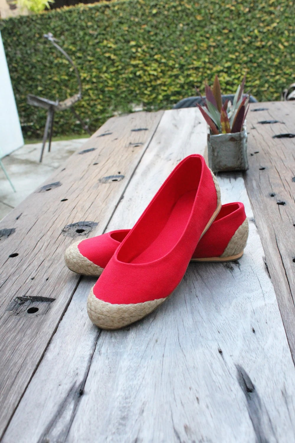 Red Ballet Flat Espadrilles - Available in 6, 7, 8, 9 US Sizing / 36, 37.5, 38.5, 40 EUR Sizing