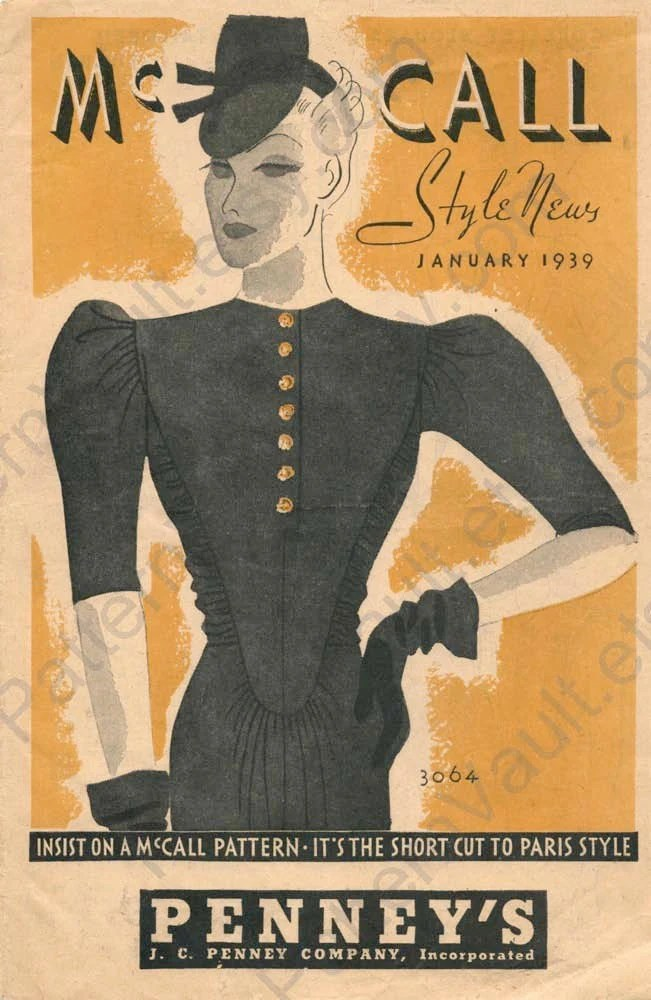 McCall Style News January 1939 art deco pattern leaflet catalog