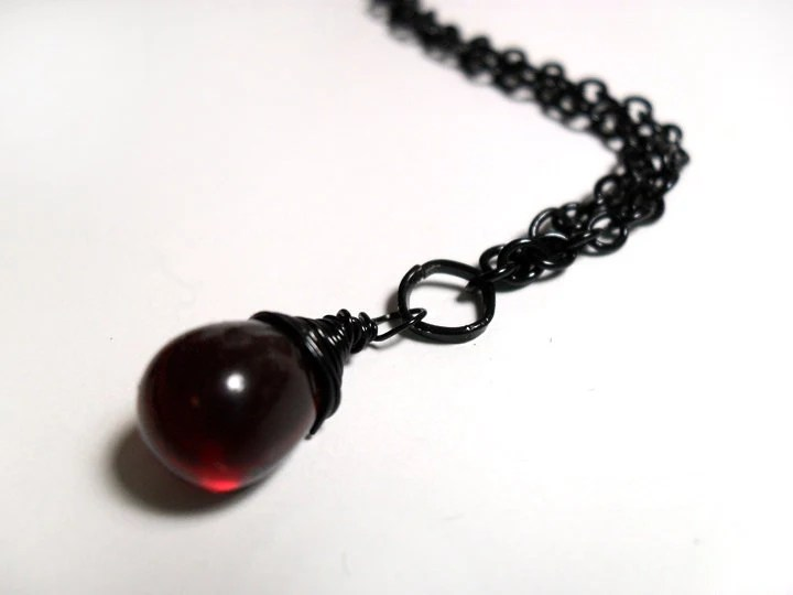 Drop of Blood Necklace - $18.00