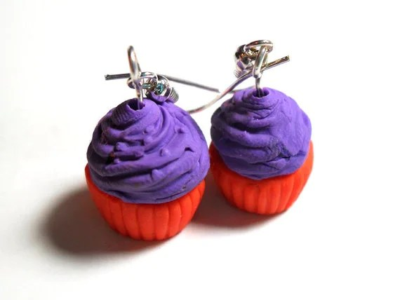 Halloween Cupcake Earrings - $5