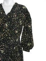 Vintage 30s Dress / 1930s Dress / Black Floral Dress
