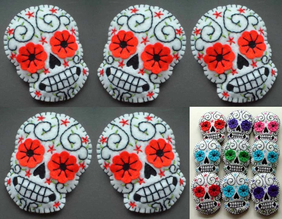 5 Sugar Skull Christmas Decorations