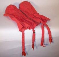 Vintage Corset Red - Merry Widow Garter Belt Corset, 1950s - Size Small (32)
