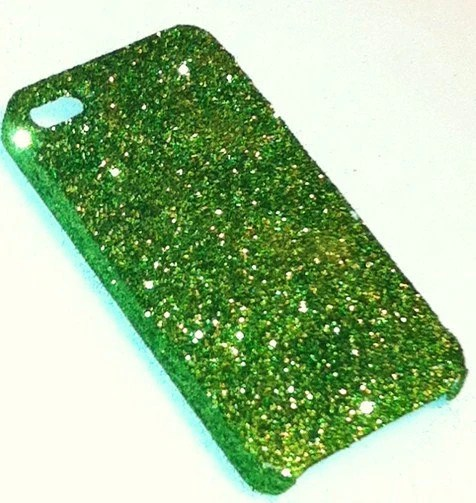 Dark Green Glitter iPhone 4 4s Hard Cover Case