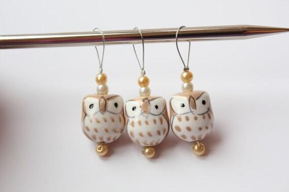 Stitch markers : Three Little Owls