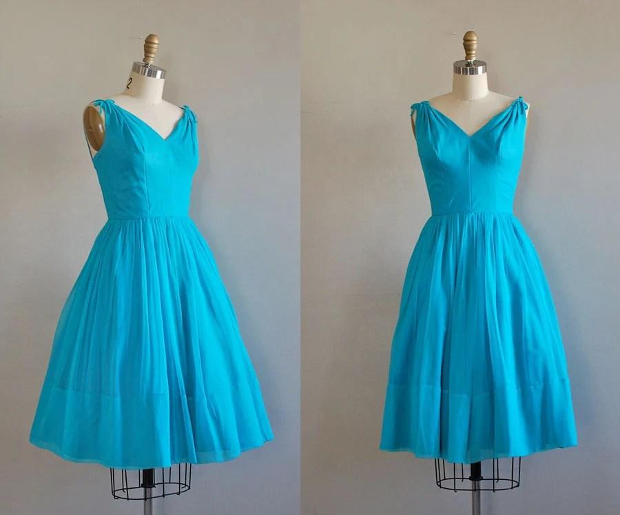 50s dress / 1950s party dress / Brilliantine dress