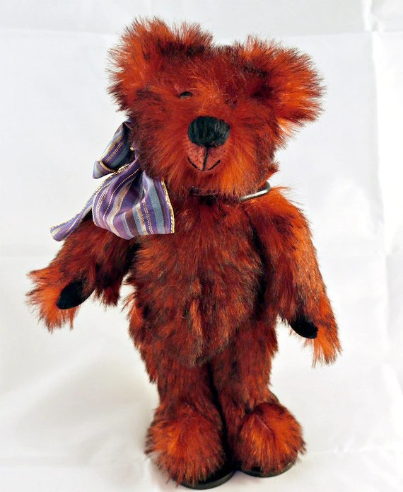 Alfie hand sewn mohair bear Ltd edition number one of two