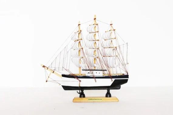 Vintage charles morgan ship boat model